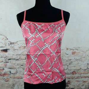 J. McLaughlin S Coral Pink Silk Camisole Tank Top